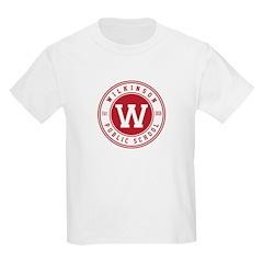 Kids White T Shirt - Logo On Front T-Shirt