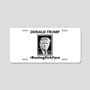 Donald Trump: Resting Dick Aluminum License Plate