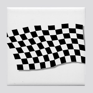 Chequered Flag Fluttering Tile Coaster