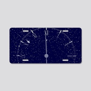 Time Is Almost Midnight Aluminum License Plate