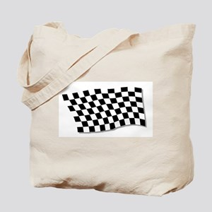 Chequered Flag Fluttering Tote Bag