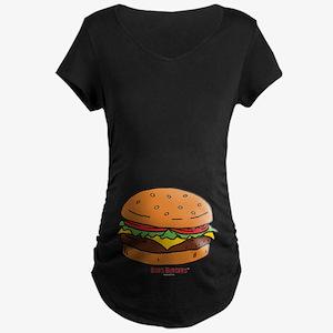 Bob's Burgers Hamburger Maternity Dark T-Shirt