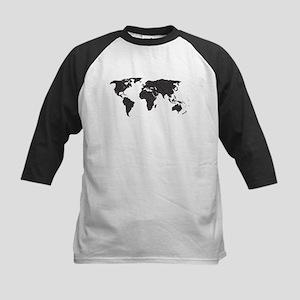 World Outline Dots Baseball Jersey