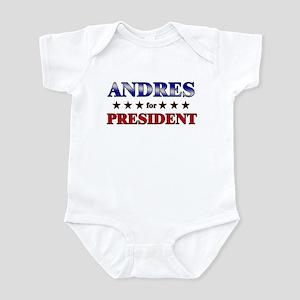 ANDRES for president Infant Bodysuit