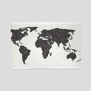 World Outline Dots Magnets