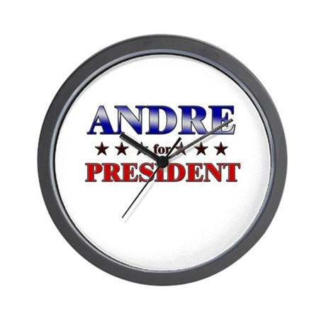 ANDRE for president Wall Clock