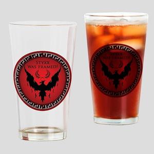 Styxx Was Framed Drinking Glass