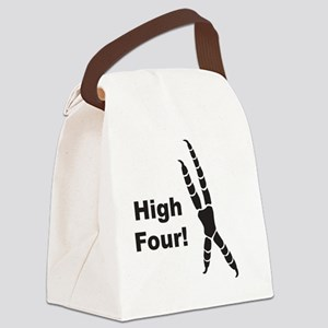 High Four Canvas Lunch Bag