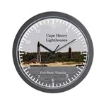 Cape Henry Ligthouses Wall Clock
