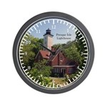 Presque Isle Lightouse Wall Clock