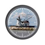 Cleveland Harbor Main Entrance Light Wall Clock