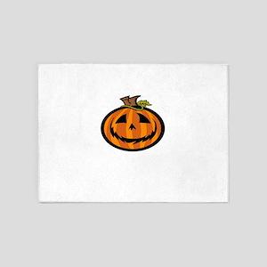 Halloween pumpkin Jack o'lantern Bo 5'x7'Area Rug
