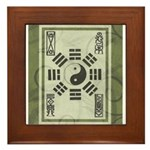 black & green Pa Kua Framed Tile