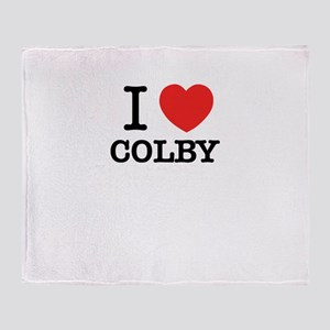I Love COLBY Throw Blanket