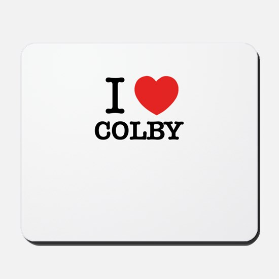 I Love COLBY Mousepad