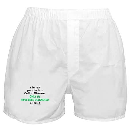 1 In 133 Has Celiac Disease 1.3 Boxer Shorts