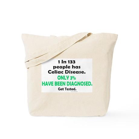 1 In 133 Has Celiac Disease 1.3 Tote Bag