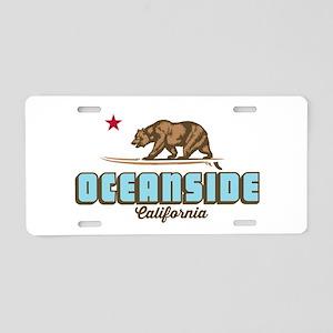 Oceanside - California. Aluminum License Plate