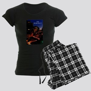 Lombard Street San Francisco Women's Dark Pajamas
