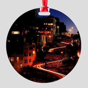 Lombard Street San Francisco Round Ornament