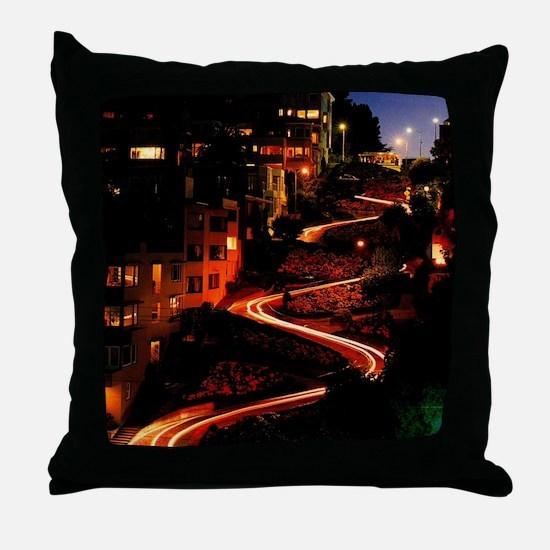 Lombard Street San Francisco Throw Pillow