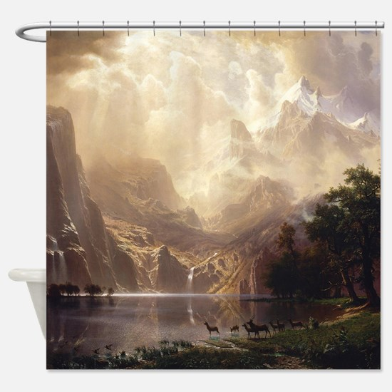 Albert Bierstadt Sierra Nevada Shower Curtain