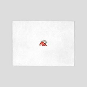 Strawberry Hermit Crab 5'x7'Area Rug