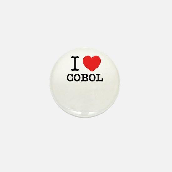I Love COBOL Mini Button