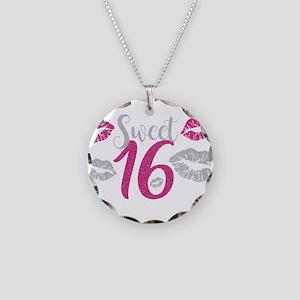 Sweet Sixteen 16 Birthday Gl Necklace Circle Charm