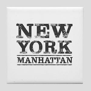 MANHATTAN NEW YORK NEW YORK Tile Coaster