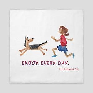 enjoy. every. day. 2 Queen Duvet