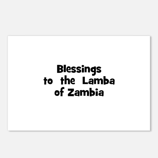 Blessings  to  the  Lamba of  Postcards (Package o