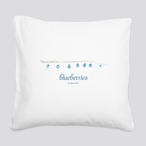 Blueberries Square Canvas Pillow