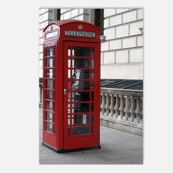 Unique Phone booth Postcards (Package of 8)