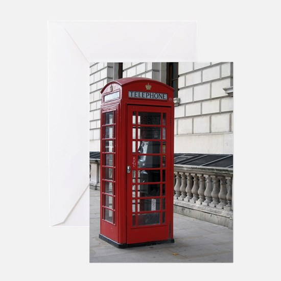 Unique Phone booth Greeting Card