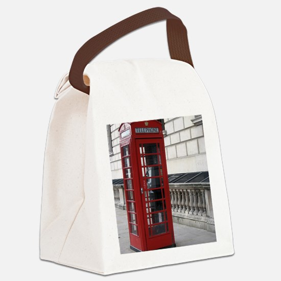 Funny Phone booth Canvas Lunch Bag