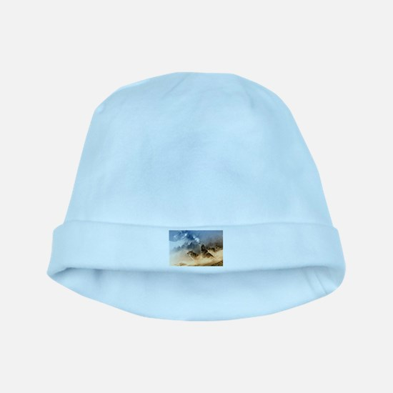 Wolves Howling at moon baby hat
