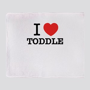I Love TODDLE Throw Blanket