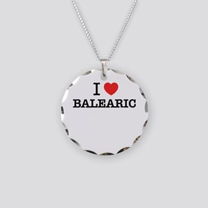 I Love BALEARIC Necklace Circle Charm