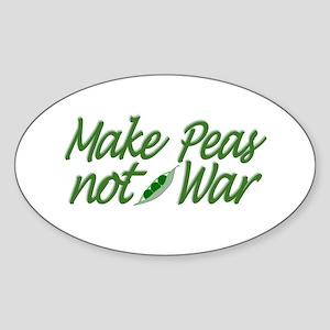 Make Peas not War Oval Sticker