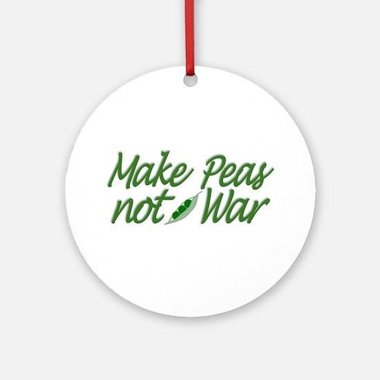 Make Peas not War Ornament (Round)