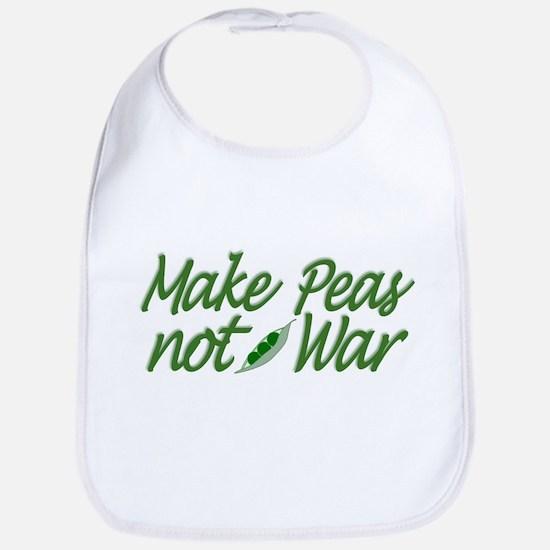 Make Peas not War Bib