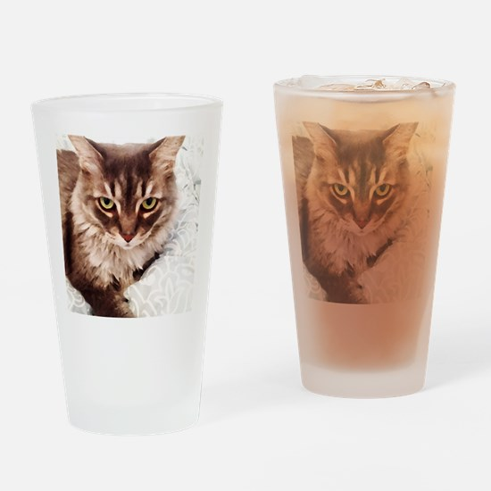 Cool Catlover Drinking Glass