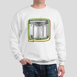 Marching Snare Drum Neon Sweatshirt