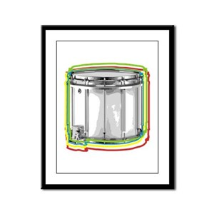 Marching Snare Drum Neon Framed Panel Print