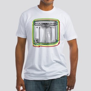 Marching Snare Drum Neon Fitted T-Shirt