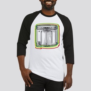Marching Snare Drum Neon Baseball Jersey