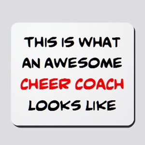 awesome cheer coach Mousepad