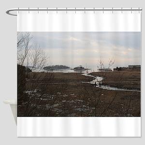 Connecticut Shoreline Shower Curtain
