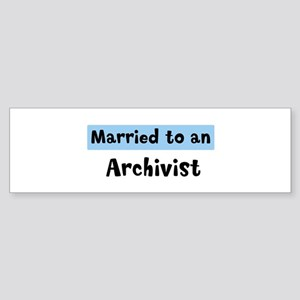 Married to: Archivist Bumper Sticker